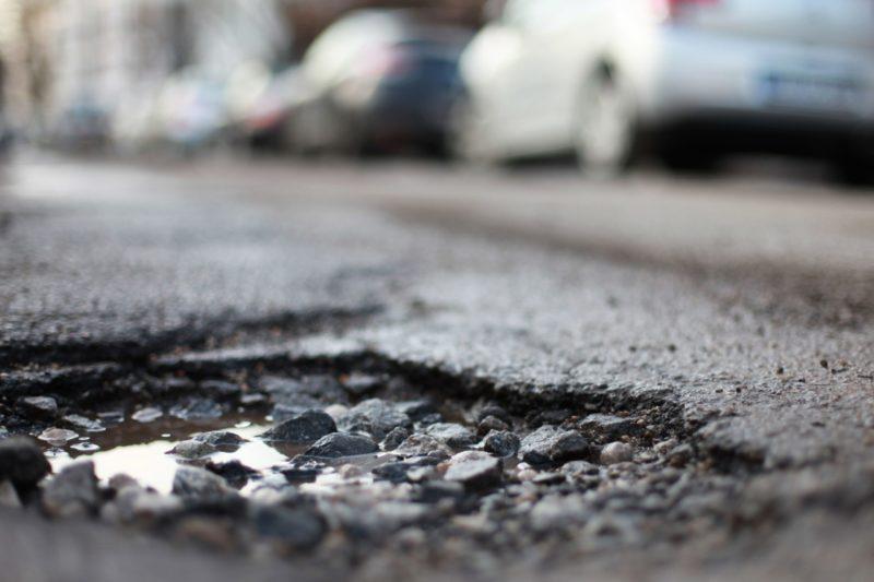 fixing driveway potholes